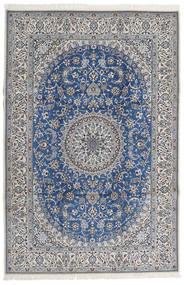 Nain 9La Covor 206X307 Orientale Lucrat Manual Gri Deschis/Gri Închis (Lână/Mătase, Persia/Iran)