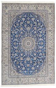 Nain 9La Covor 203X310 Orientale Lucrat Manual Gri Deschis/Gri Închis (Lână/Mătase, Persia/Iran)