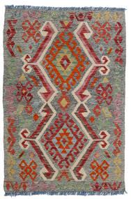 Chilim Afghan Old Style Covor 80X118 Orientale Lucrate De Mână Gri Închis/Roșu-Închis/Gri Deschis (Lână, Afganistan)