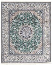 Nain 9La Covor 246X300 Orientale Lucrat Manual Gri Deschis/Albastru Turcoaz (Lână/Mătase, Persia/Iran)