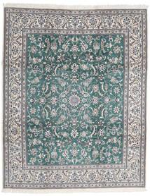 Nain 9La Covor 252X306 Orientale Lucrat Manual Gri Deschis/Gri Închis Mare (Lână/Mătase, Persia/Iran)
