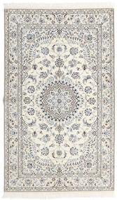 Nain 9La Covor 152X253 Orientale Lucrat Manual Bej/Gri Deschis (Lână/Mătase, Persia/Iran)