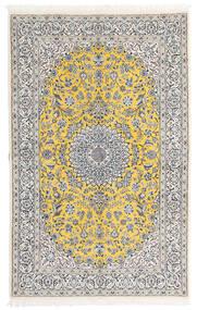 Nain 9La Covor 158X248 Orientale Lucrat Manual Gri Deschis/Bej-Crem (Lână/Mătase, Persia/Iran)
