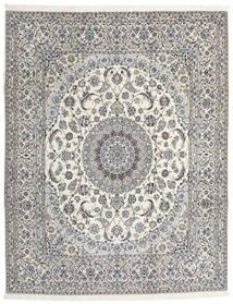 Nain 9La Covor 245X310 Orientale Lucrat Manual Gri Deschis/Bej (Lână/Mătase, Persia/Iran)