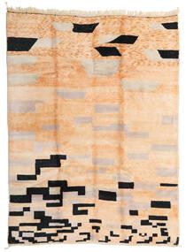 Berber Moroccan - Mid Atlas Covor 252X337 Modern Lucrat Manual Roz Deschis/Maro Închis Mare (Lână, Maroc)