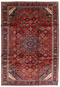 Mashhad Covor 207X300 Orientale Lucrat Manual Roșu-Închis/Gri Închis (Lână, Persia/Iran)