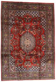 Golpayegan Covor 215X307 Orientale Lucrat Manual Roșu-Închis/Negru (Lână, Persia/Iran)
