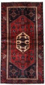 Hamadan Covor 100X193 Orientale Lucrat Manual Roșu-Închis (Lână, Persia/Iran)