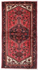 Hamadan Covor 100X193 Orientale Lucrat Manual Roșu-Închis/Ruginiu (Lână, Persia/Iran)