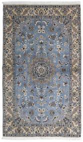 Nain 9La Covor 127X215 Orientale Lucrat Manual Gri Închis/Gri Deschis (Lână/Mătase, Persia/Iran)