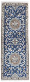 Nain 9La Covor 80X215 Orientale Lucrat Manual Gri Deschis/Bej-Crem (Lână/Mătase, Persia/Iran)