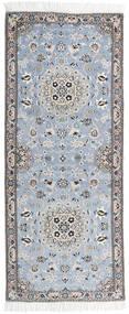 Nain 9La Covor 81X196 Orientale Lucrat Manual Gri Deschis/Albastru Deschis (Lână/Mătase, Persia/Iran)