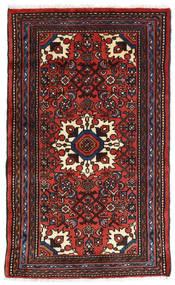 Asadabad Covor 73X121 Orientale Lucrat Manual Negru/Roșu-Închis/Ruginiu (Lână, Persia/Iran)