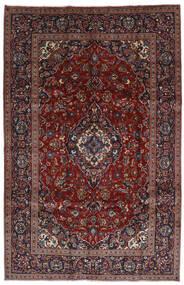 Kashan Covor 197X306 Orientale Lucrat Manual Roșu-Închis/Maro Închis (Lână, Persia/Iran)