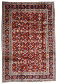 Kashan Covor 192X283 Orientale Lucrat Manual Roșu-Închis/Maro Închis (Lână, Persia/Iran)