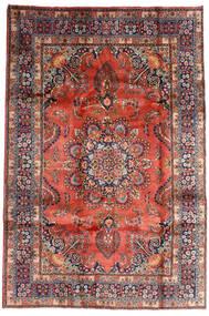 Mashhad Covor 196X290 Orientale Lucrat Manual Roșu-Închis/Mov Închis (Lână, Persia/Iran)