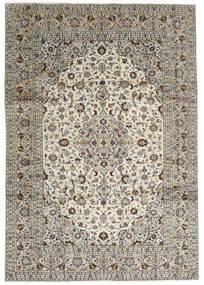 Kashan Covor 246X352 Orientale Lucrat Manual Gri Deschis/Gri Închis (Lână, Persia/Iran)