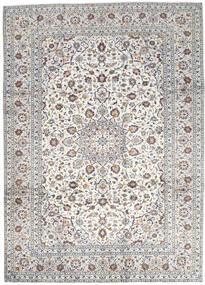 Kashan Covor 250X346 Orientale Lucrat Manual Gri Deschis/Bej Mare (Lână, Persia/Iran)
