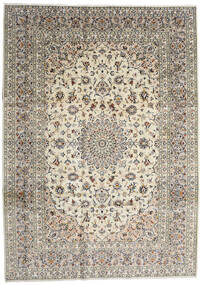 Kashan Covor 254X353 Orientale Lucrat Manual Gri Deschis/Bej/Gri Închis Mare (Lână, Persia/Iran)