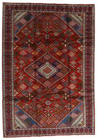 Mashhad Covor 210X296 Orientale Lucrat Manual Roșu-Închis/Maro Închis (Lână, Persia/Iran)