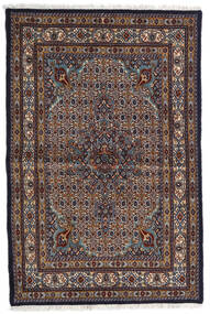 Moud Covor 98X150 Orientale Lucrat Manual Maro Închis/Gri Deschis (Lână/Mătase, Persia/Iran)