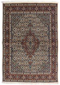 Moud Covor 98X143 Orientale Lucrat Manual Gri Deschis/Negru (Lână/Mătase, Persia/Iran)