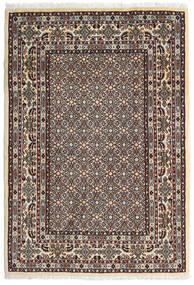 Moud Covor 100X146 Orientale Lucrat Manual Maro Închis/Bej (Lână/Mătase, Persia/Iran)