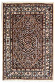 Moud Covor 98X147 Orientale Lucrat Manual Maro Închis/Roșu-Închis (Lână/Mătase, Persia/Iran)