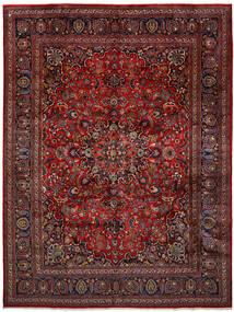 Mashhad Covor 296X393 Orientale Lucrat Manual Roșu-Închis/Gri Închis Mare (Lână, Persia/Iran)