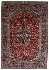 Kashan Covor 288X416 Orientale Lucrat Manual Roșu-Închis Mare (Lână, Persia/Iran)