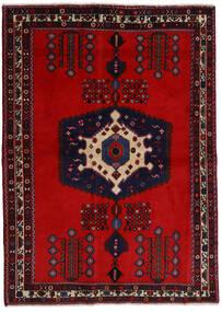 Afshar Covor 171X237 Orientale Lucrat Manual Roșu-Închis/Ruginiu (Lână, Persia/Iran)