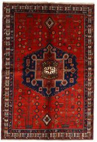 Afshar Covor 158X232 Orientale Lucrat Manual Roșu-Închis/Ruginiu (Lână, Persia/Iran)