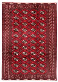Turkaman Covor 199X282 Orientale Lucrat Manual Roșu-Închis/Roşu (Lână, Persia/Iran)