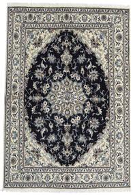 Nain Covor 164X238 Orientale Lucrat Manual Gri Închis/Negru (Lână, Persia/Iran)