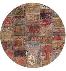 Patchwork - Persien/Iran Covor Ø 200 Modern Lucrat Manual Rotund Roșu-Închis/Maro Deschis (Lână, Persia/Iran)