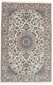 Nain 9La Covor 160X251 Orientale Lucrat Manual Gri Deschis/Bej-Crem (Lână/Mătase, Persia/Iran)