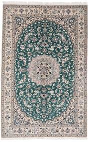 Nain 9La Covor 161X248 Orientale Lucrat Manual Gri Deschis/Întuneric Turquoise (Lână/Mătase, Persia/Iran)