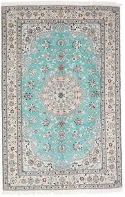 Nain 9La Covor 157X244 Orientale Lucrat Manual Gri Deschis/Bej-Crem (Lână/Mătase, Persia/Iran)