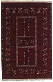 Kunduz Covor 155X238 Orientale Lucrat Manual Roșu-Închis (Lână, Afganistan)