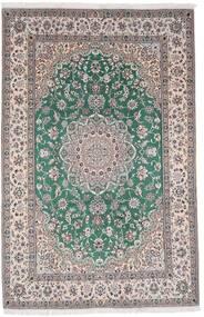 Nain 9La Covor 198X304 Orientale Lucrat Manual Gri Deschis/Gri Închis (Lână/Mătase, Persia/Iran)