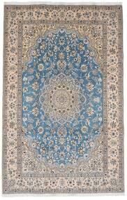 Nain 9La Covor 201X311 Orientale Lucrat Manual Gri Deschis/Bej-Crem (Lână/Mătase, Persia/Iran)