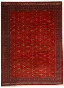 Pakistan Bukhara 2Ply Covor 303X408 Orientale Lucrat Manual Roșu-Închis/Ruginiu Mare (Lână, Pakistan)