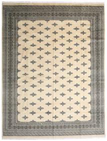 Pakistan Bukhara 2Ply Covor 303X395 Orientale Lucrat Manual Bej/Gri Închis/Gri Deschis Mare (Lână, Pakistan)