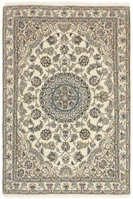 Nain 9La Covor 98X152 Orientale Lucrat Manual Bej/Gri Deschis (Lână/Mătase, Persia/Iran)