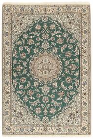Nain 9La Covor 121X176 Orientale Lucrat Manual Gri Deschis/Bej/Verde Închis (Lână/Mătase, Persia/Iran)