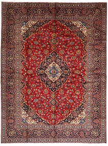 Kashan Covor 294X396 Orientale Lucrat Manual Roșu-Închis/Maro Închis Mare (Lână, Persia/Iran)