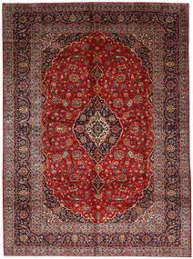 Kashan Covor 278X377 Orientale Lucrat Manual Roșu-Închis/Maro Închis Mare (Lână, Persia/Iran)