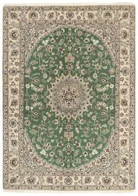 Nain 9La Covor 149X207 Orientale Lucrat Manual Verde Oliv/Gri Deschis/Bej (Lână/Mătase, Persia/Iran)