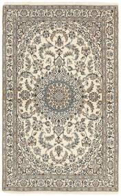 Nain 9La Covor 115X188 Orientale Lucrat Manual Gri Deschis/Bej (Lână/Mătase, Persia/Iran)