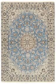 Nain 9La Covor 118X177 Orientale Lucrat Manual Gri Deschis/Bej (Lână/Mătase, Persia/Iran)